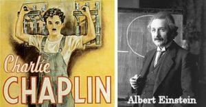إينشتاين وشابلن