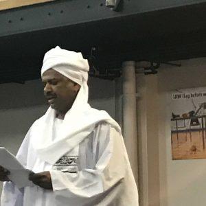 """خطيب عيد السودانيين بلندن يدعو إلى التوحد ورفض الإقصاء ويندد بـ """"سفاكي الدماء"""""""