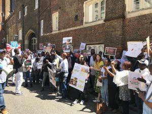 لندن: تظاهرة حاشدة تشدد على اسقاط نظام البشير وتدعو بريطانيا لممارسة ضغوط لوقف القمع
