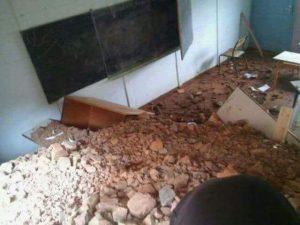 انهيار فصل دراسي على تلاميذ مدرسة الميرغنية في بحري