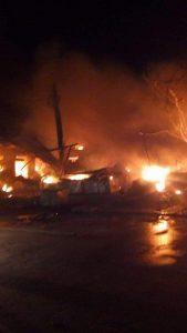 حريق يقضي على عدد من المحلات التجارية بسوق أم درمان ولا خسائر في الأرواح