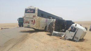 مصرع 14 شخصاً وإصابة 37 آخرين بجروح خطيرة في حادث مروري بطريق الإنقاذ الغربي