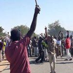 تظاهرات بالأبيض ومدني وامري  والأمن يعتقل عدداً من المتظاهرين بوسط الخرطوم