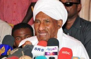 مؤكداً أهمية استقرار السودان للعالم.. الصادق المهدي: لا لتشكيل حكومة من جانب واحد