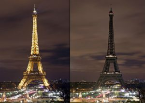 فرنسا تطفئ أنوار برج إيفل حداداً على شهداء مسجدي نيوزيلندا