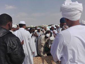 الجالية السودانية تودع فقيد الاعتداء الآثم في الرياض