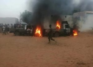 مصادر أمنية: لا فض لاعتصام كتم ومجموعة تتبع لعبد الواحد حرقت مركز الشرطة وعدة سيارات