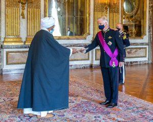 ملك بلجيكا يتسلم أوراق اعتماد السفير عبدالرحيم خليل