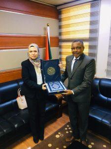 قمر الدين يلتقي القائم بأعمال سفارة العراق بالخرطوم