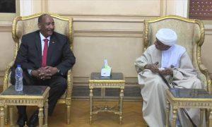 البرهان التقى رئيس الحزب الاتحادي الديمقراطي مولانا الميرغني