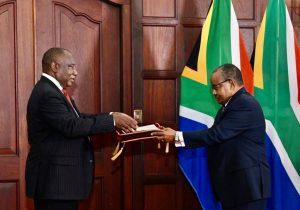 أسامة صلاح يقدم أورق اعتماده سفيراً للسودان بجنوب أفريقيا