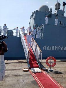 مدمرة عسكرية روسية ترسو على السواحل السودانية